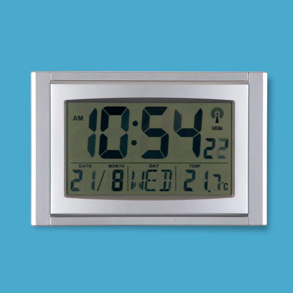 Digital Radio Controlled Desk Amp Wall Mounted Calendar