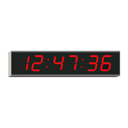 Digital LED clock Displaying Hour, Minute & Seconds 4010E
