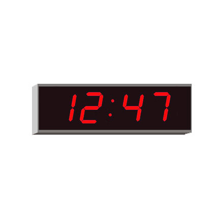 Digital LED clock displaying Hours & Minutes 4200E