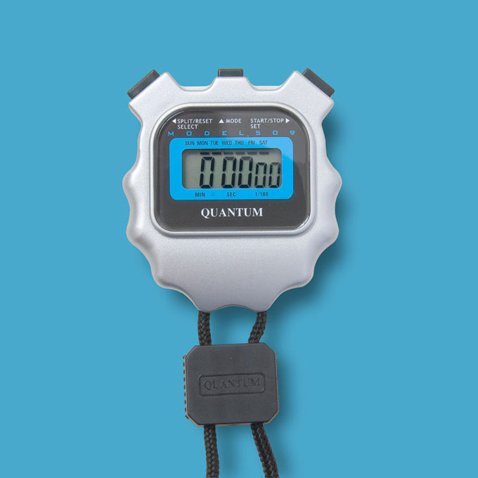 Extended Battery Life LCD Stopwatch 509/3v