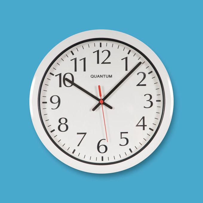 Quantum 550 Water Resistant Wall Clock