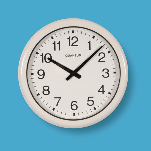 Quantum 555 Water Resistant Wall Clock