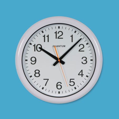 Quantum 555 Sweep Water Resistant Wall Clock