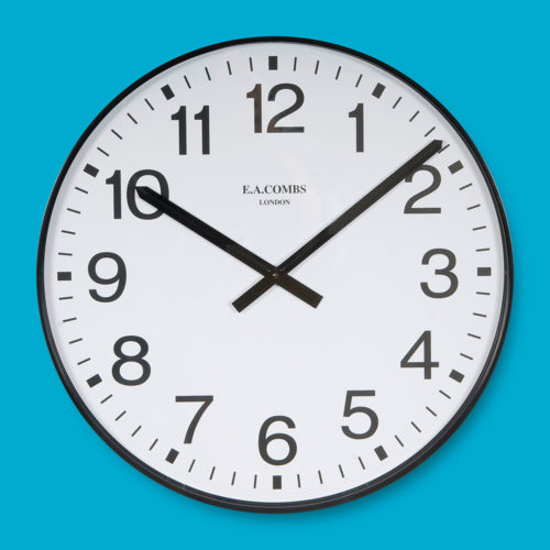 Extra Large Plastic-cased Wall Clock 6003