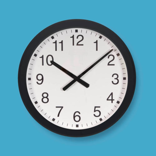 Extra Large Plastic-cased Wall Clock 6006