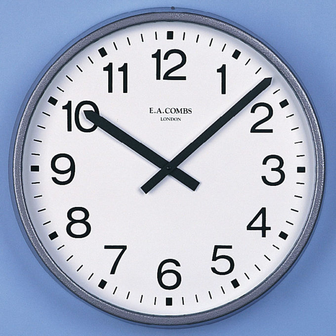 Large Metal-cased Wall Clock 6032