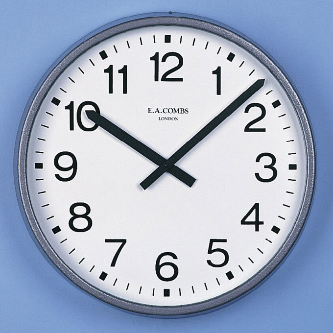 Large Metal-cased Wall Clock 6033