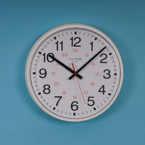 Medium-sized Metal-cased 24hr Dial Wall Clock 6411.24