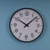 School Clock Systems: Large Black Metal-cased Wall Clock 6422