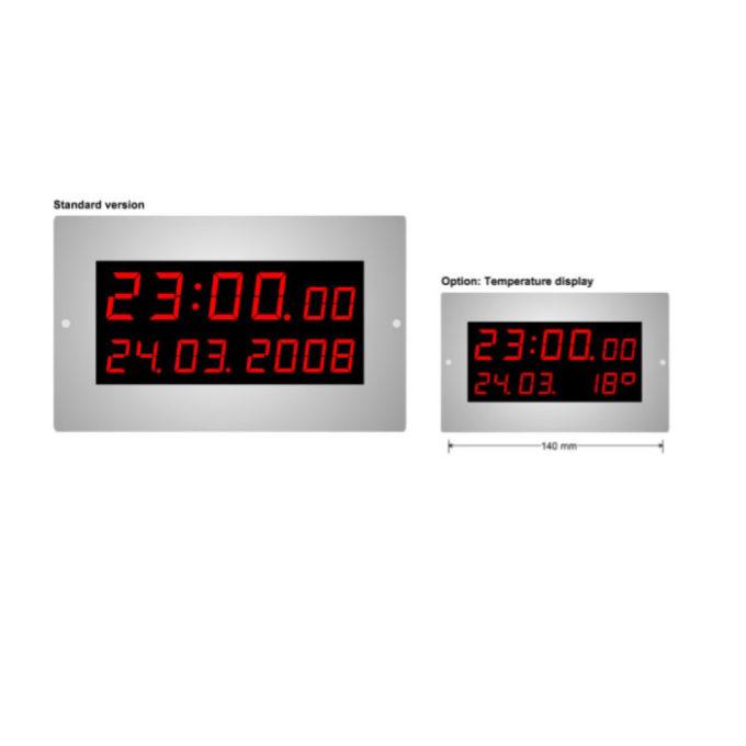 LED Mounted calendar clock L-20-14-D